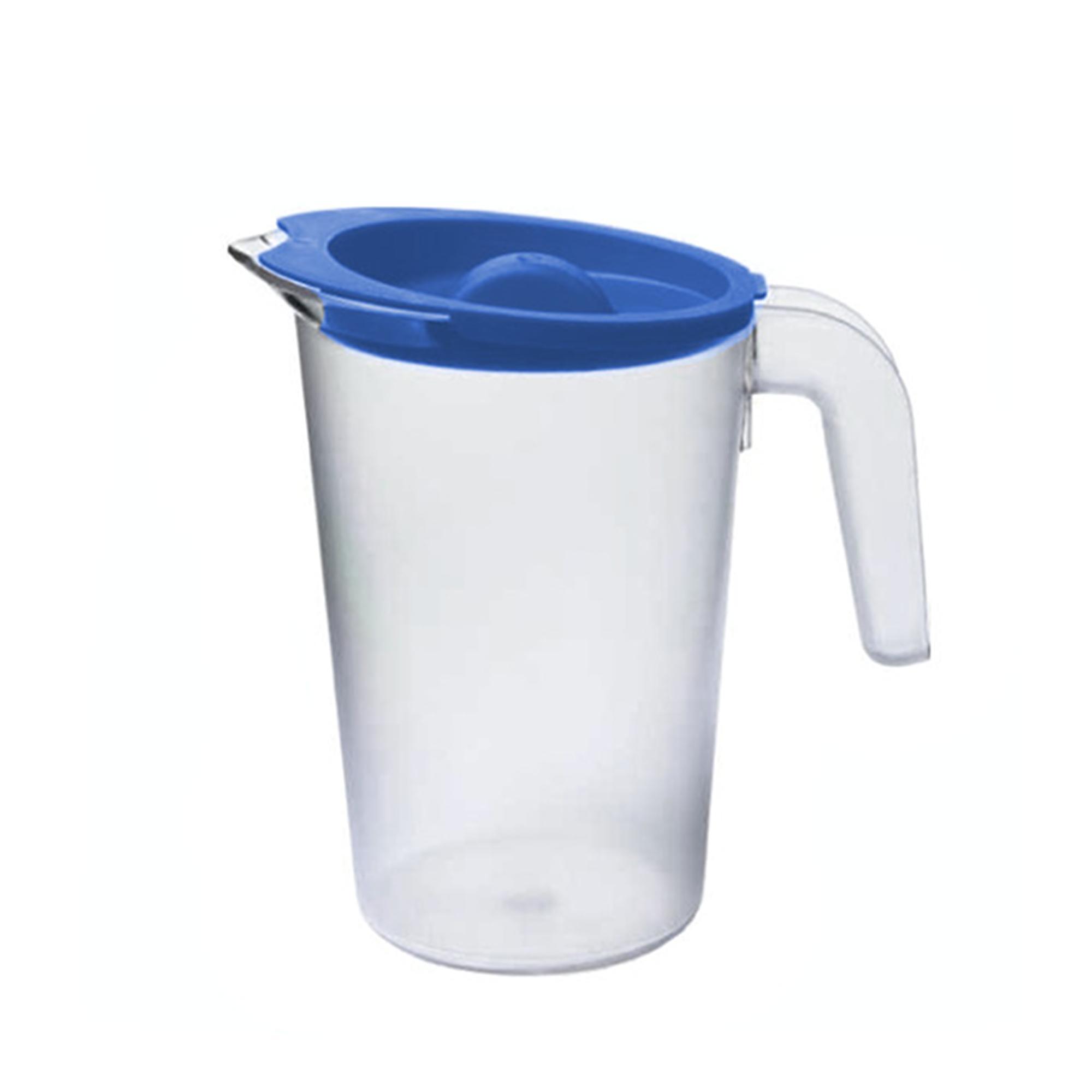 Cartaffini Caraffa per acqua trasparente in polipropilene con tappo lt 1,5
