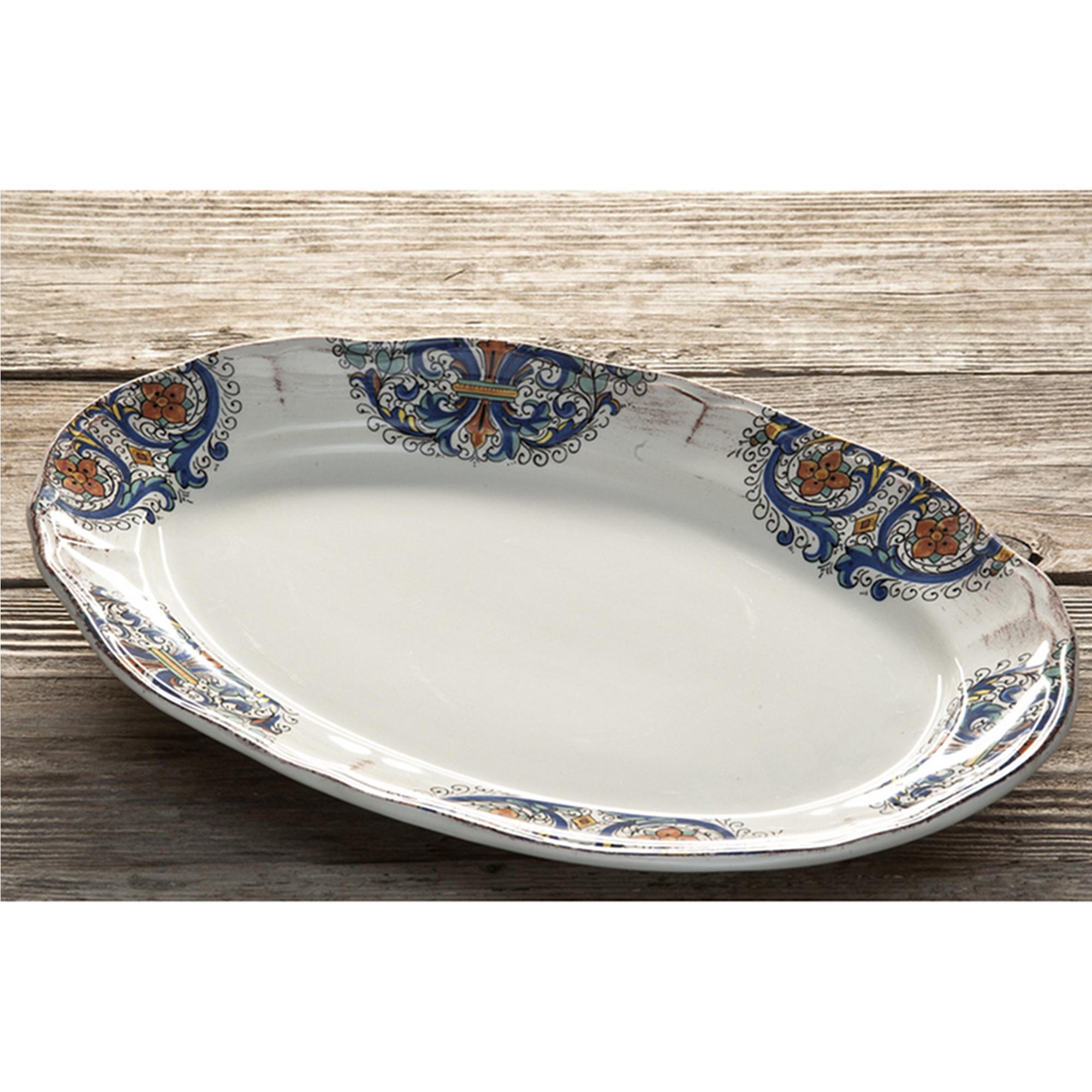 Piatto da portata ovale in ceramica da 40x26 5 cm decoro - Piatto da portata ...