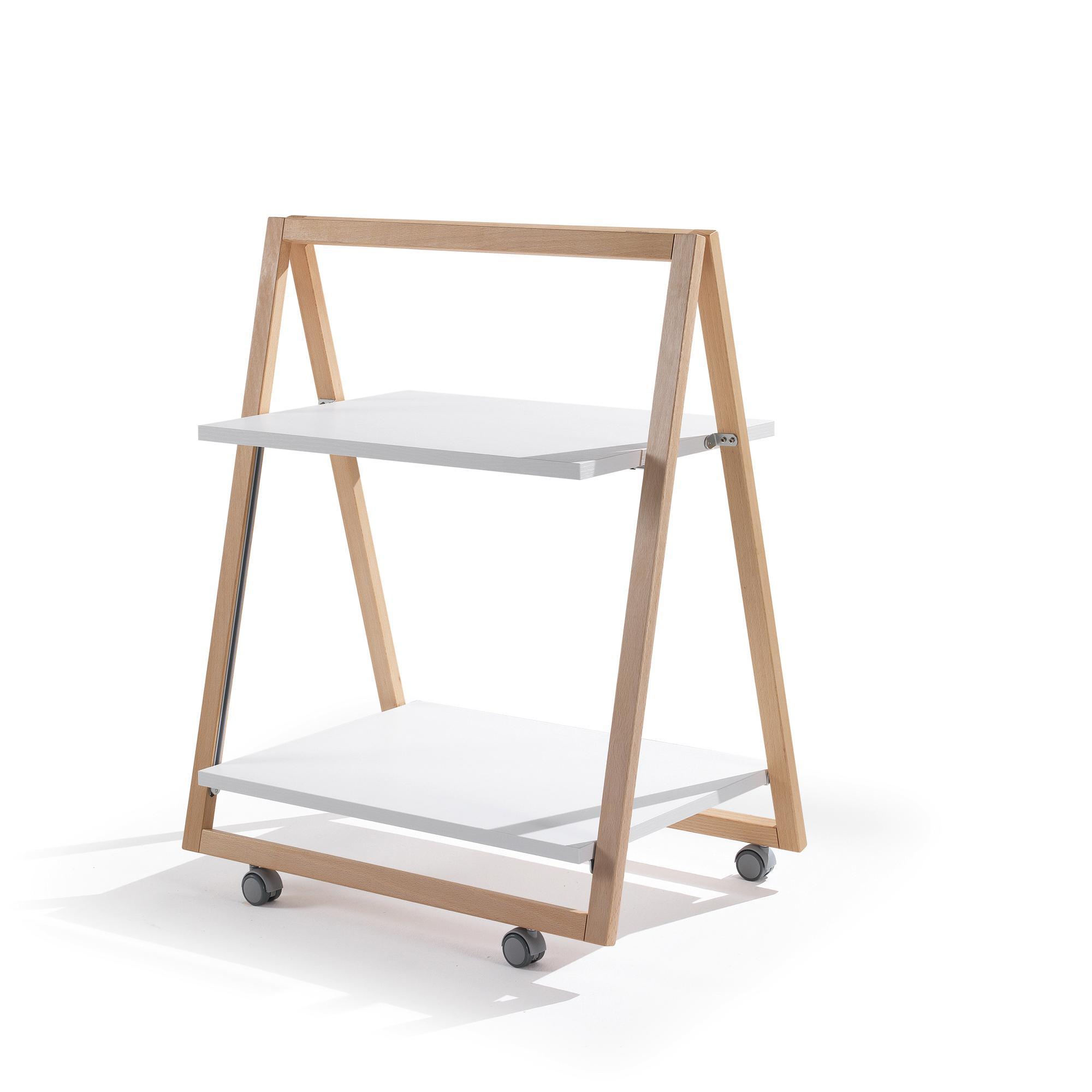 Carrello Portavivande Trolley richiudibile 64x43xh80 cm in legno di faggio  | Maconi srl