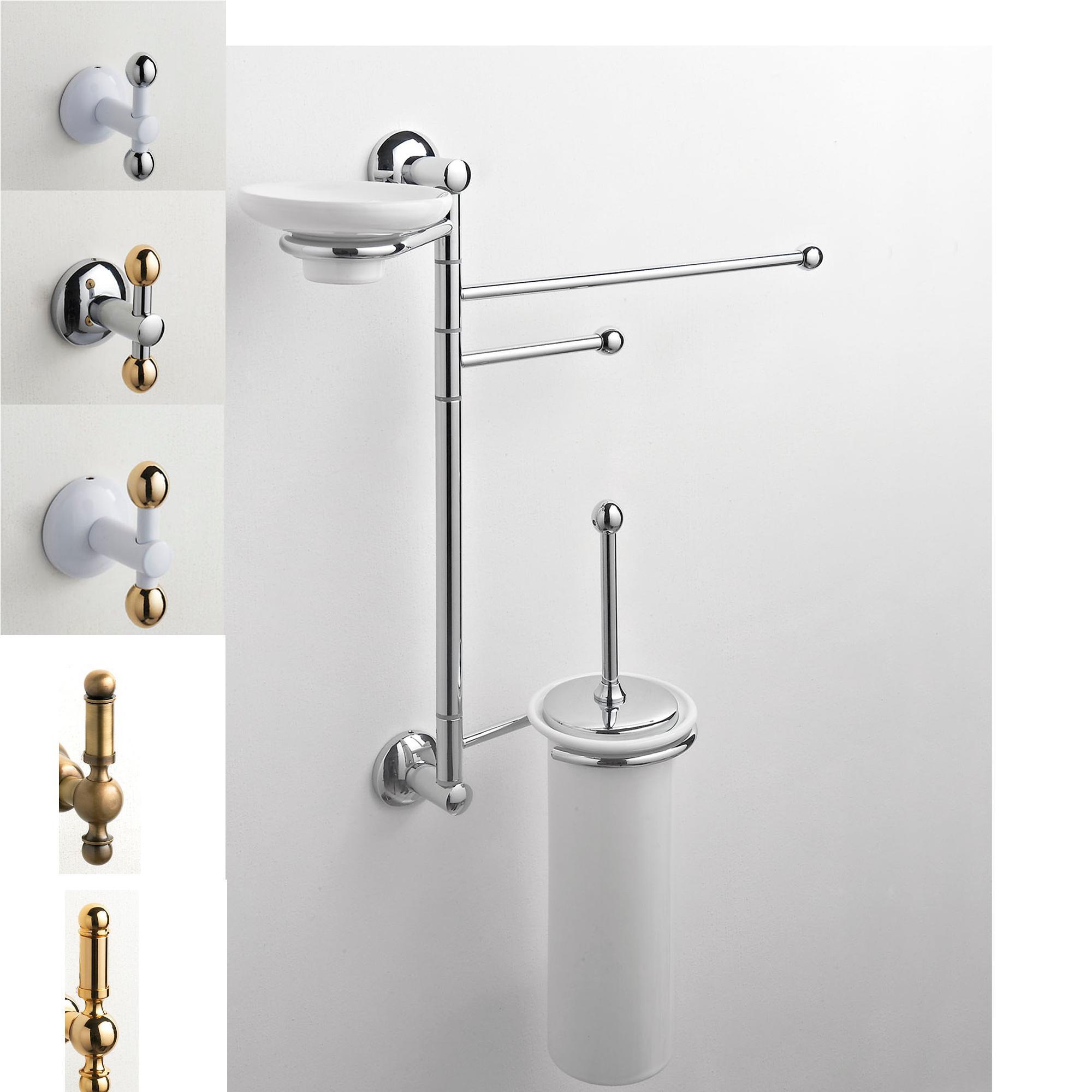 Asta attrezzata wc bidet zacinto 44x14xh60 cm porta - Porta asciugamani bidet ...