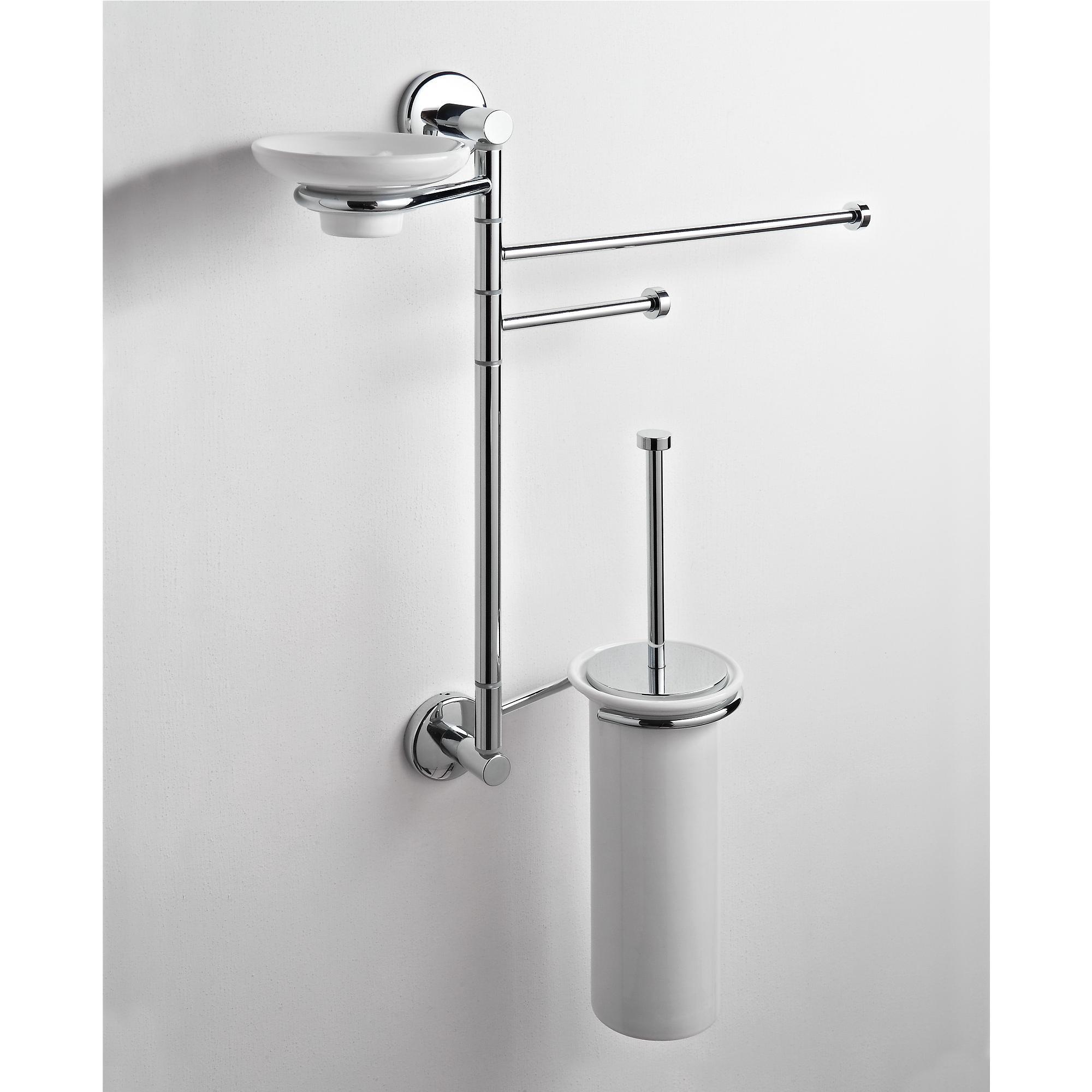 Asta attrezzata wc bidet porta scopino portasapone e - Porta asciugamani bidet ...