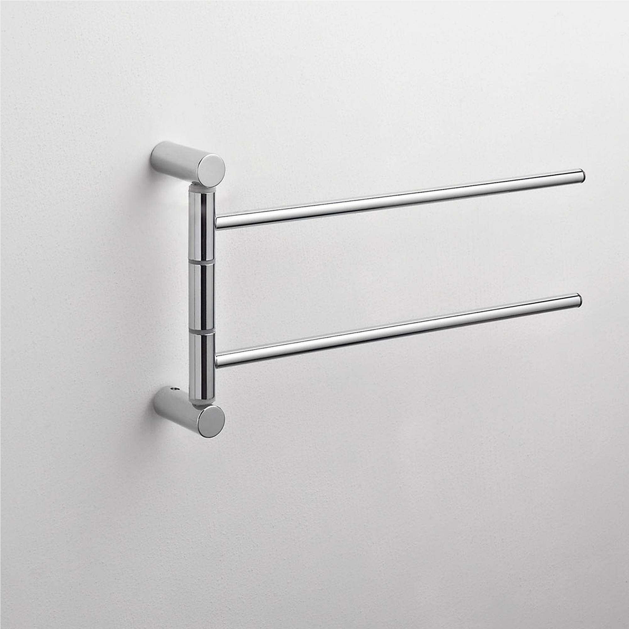 Porta asciugamani da bagno doppio 31x5xh16 cm finitura cromo lucido cqubo stilcasa net - Porta asciugamani da bagno ...