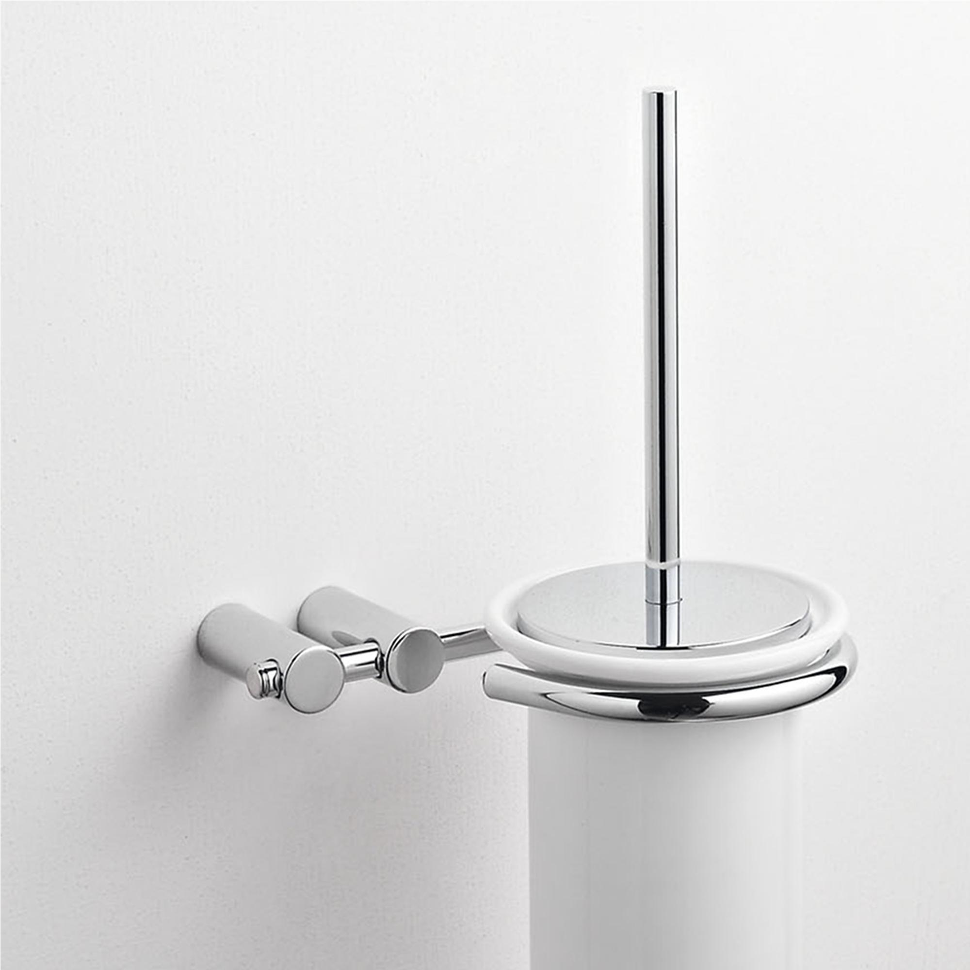 porta scopino sospeso da bagno 16x15xh39 cm in ceramica fissaggio ... - Scopino Da Bagno Design