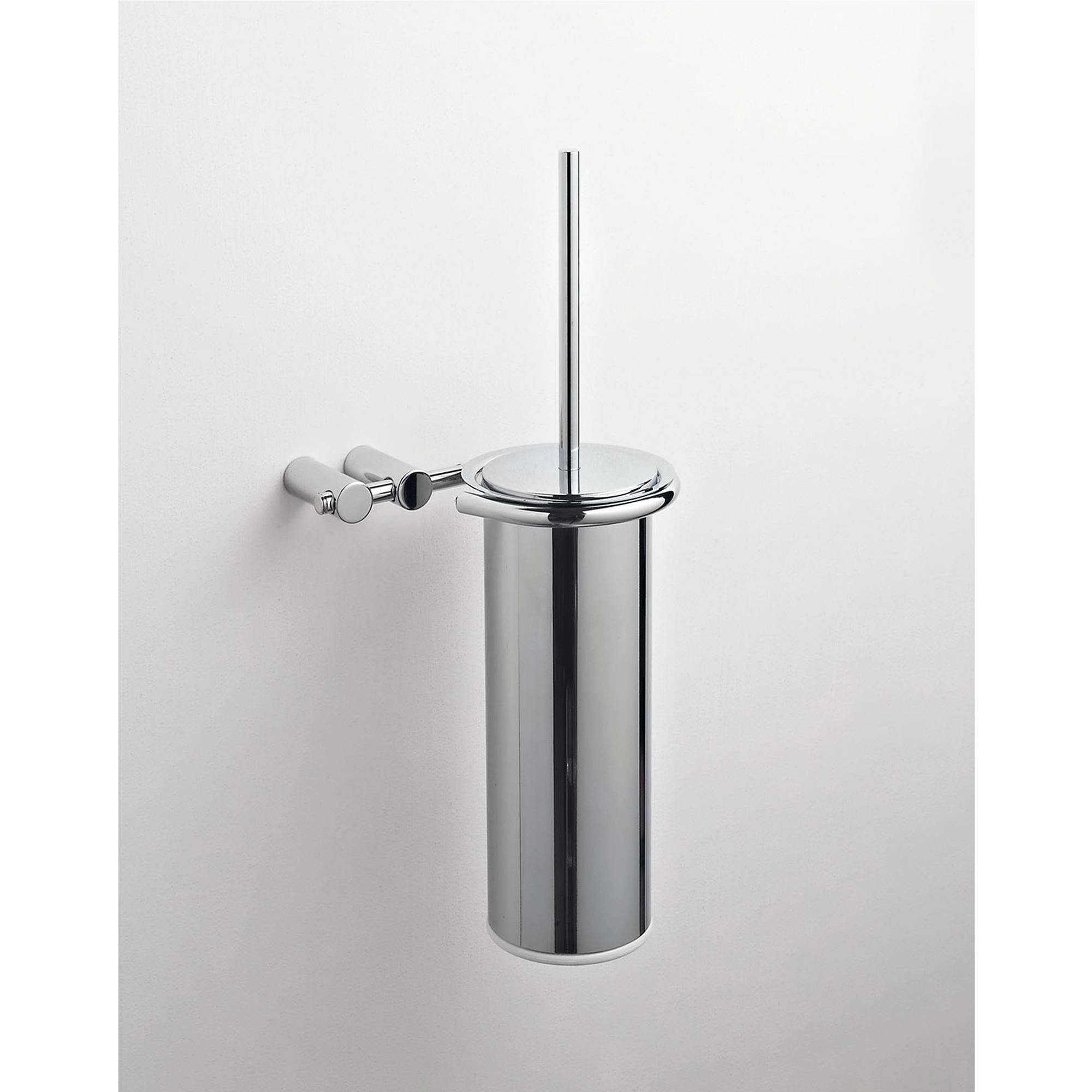 Porta scopino sospeso da bagno 16x15xh39 cm in metallo for Porta x bagno