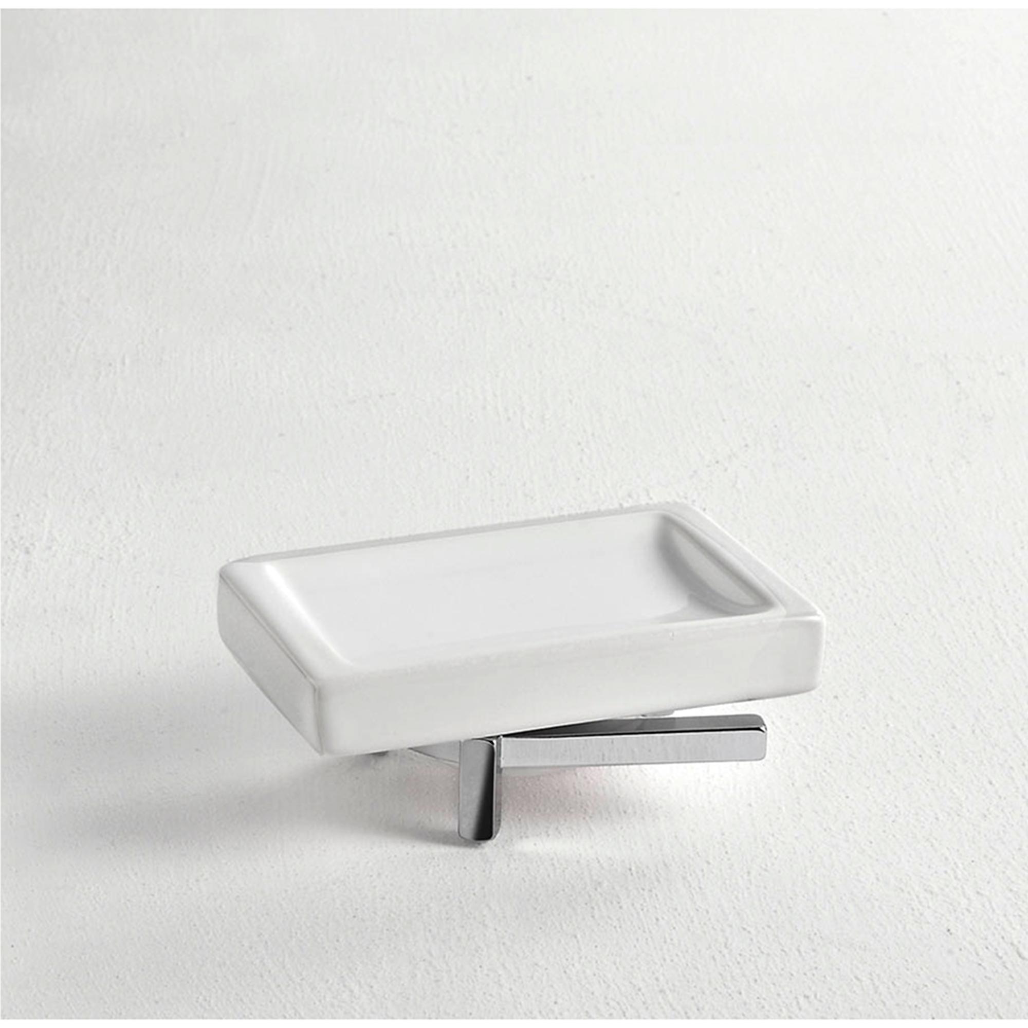 Porta sapone da appoggio cipro 12x8xh5 cm finitura cromo for Porta quadro da appoggio