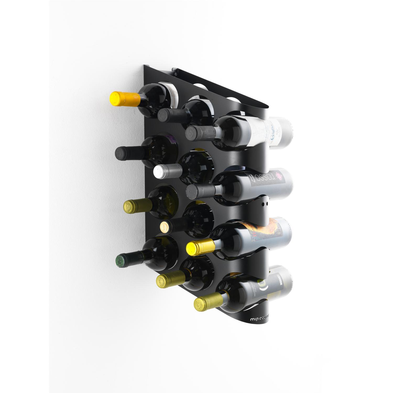 Portabottiglie design da parete holes one in metallo - Portabottiglie da parete ikea ...