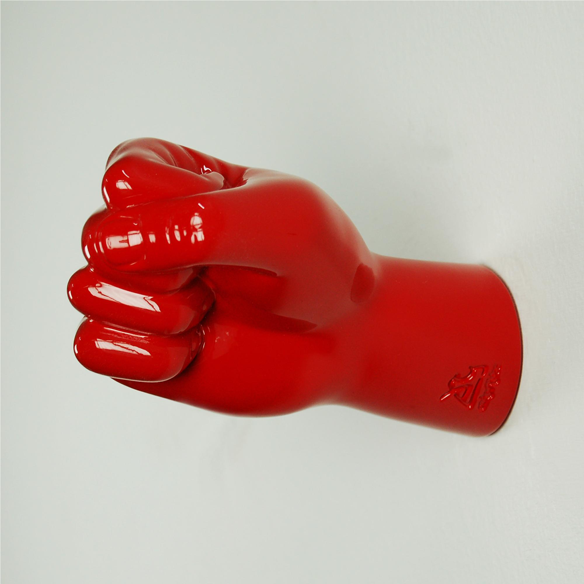 Antartidee Appendiabiti da parete Gancio dx rosso decorato a mano