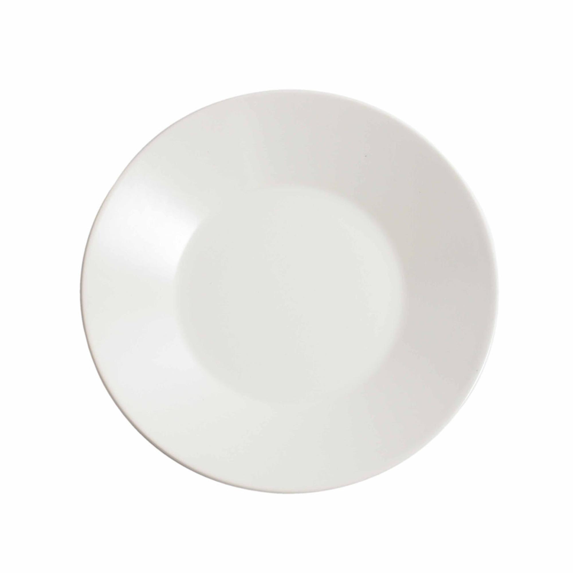Piatto piano da Frutta rotondo 6 pezzi in Gres Bianco 21 CM in colore bianco