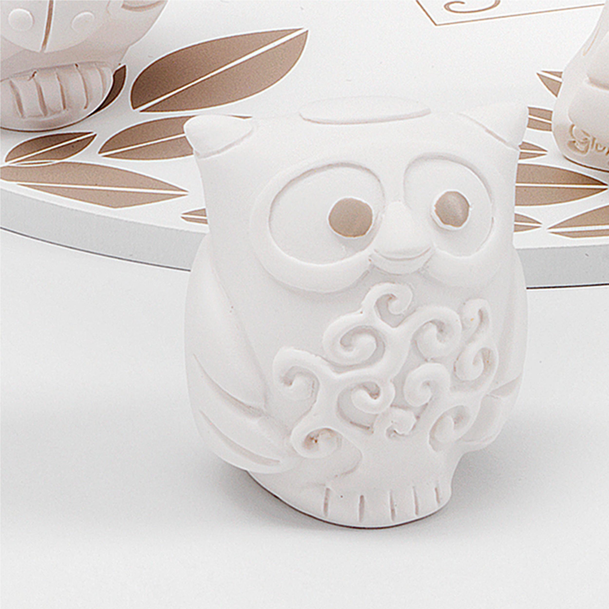 Gufo Albero della Vita per cresima e comunione in resina Bianca h 6 cm in  scatola regalo , bomboniera | Fantin Argenti