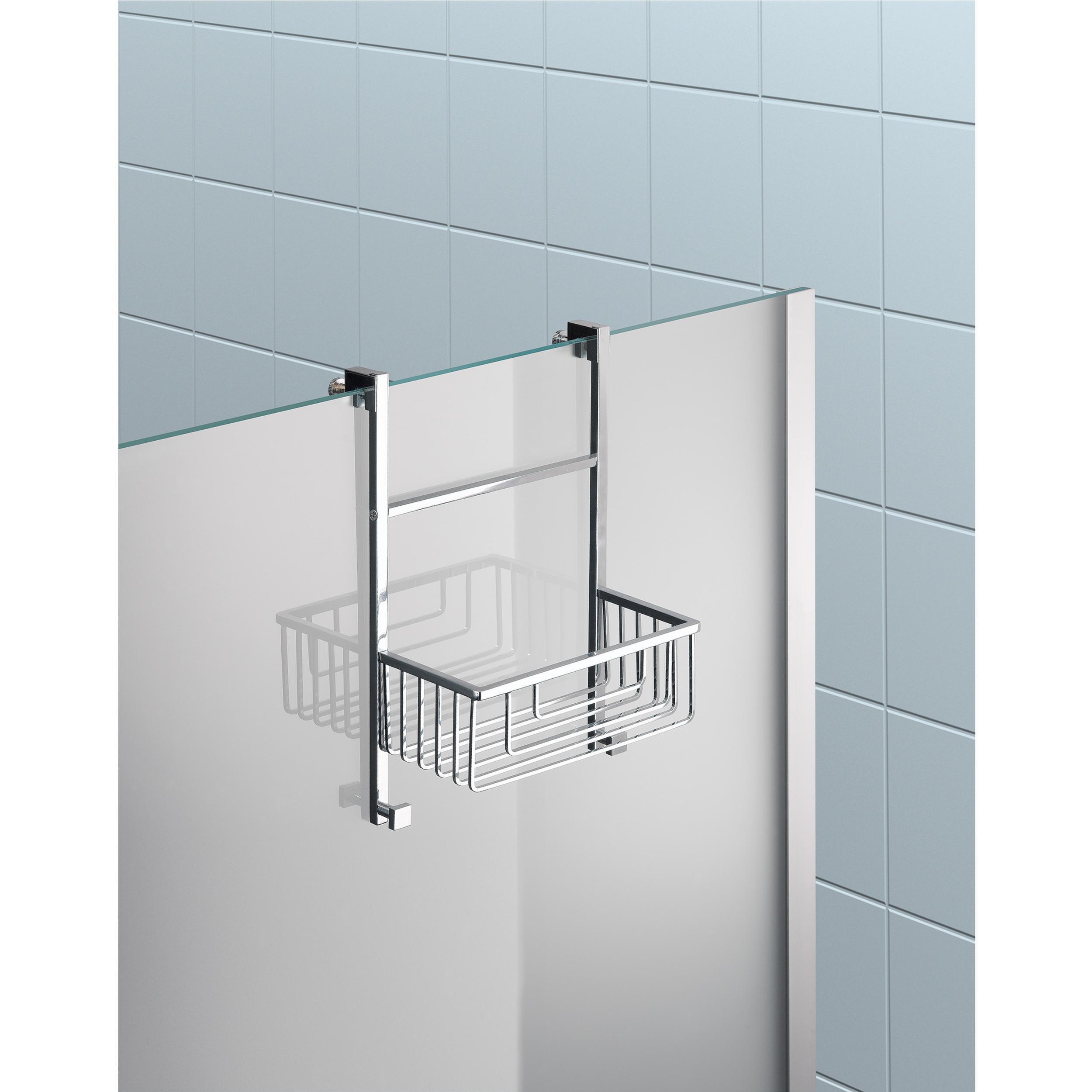 Accessori Per Box Doccia In Vetro.Mensola Doccia Un Piano Fissaggio A Vetro Box Doccia 20x14xh42cm