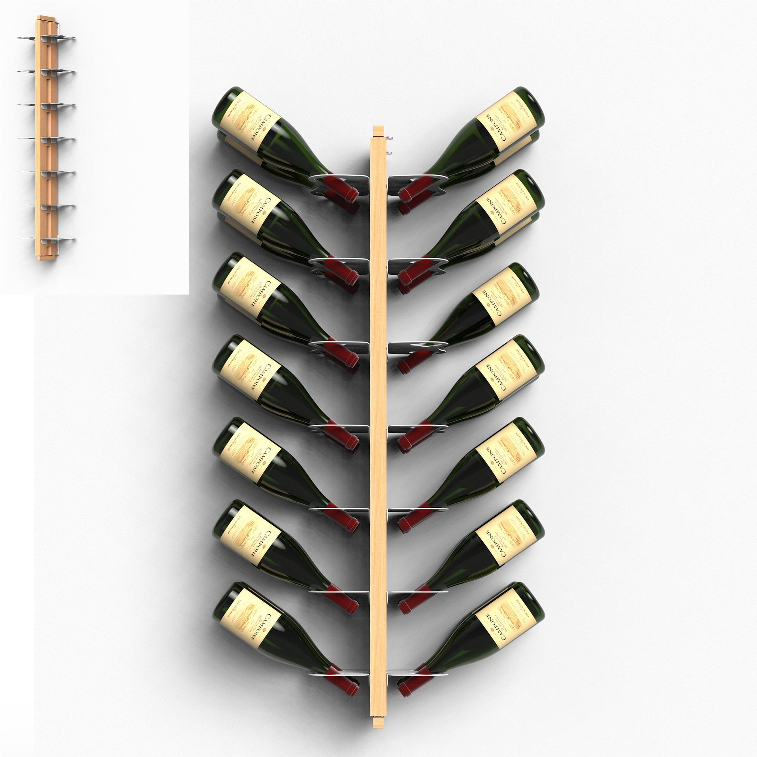 LE ZIE DI MILANO portabottiglie bifacciale sospesa da parete ZIA GAIA in faggio