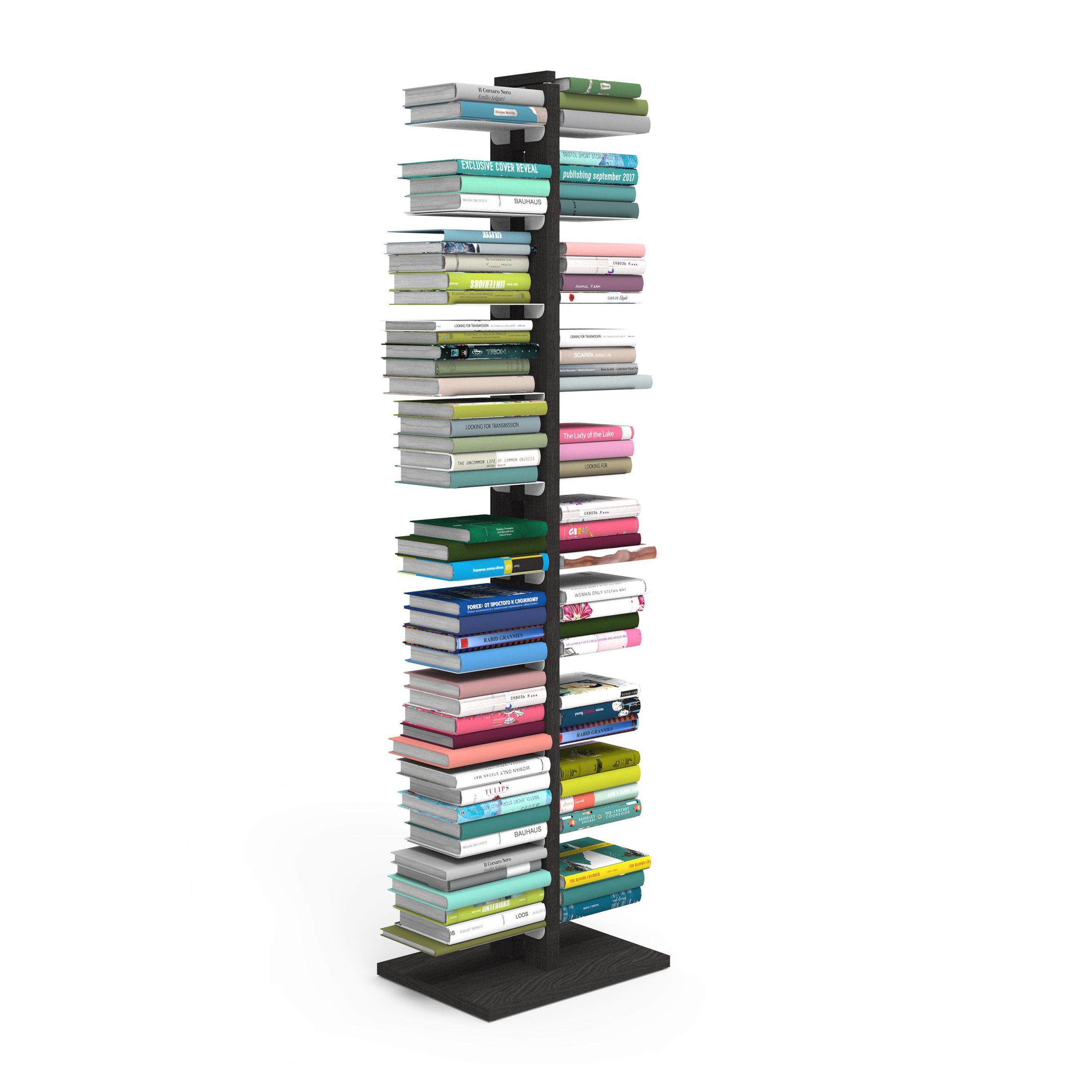 Libreria Verticale In Metallo.Libreria Verticale A Colonna Doppia Zia Bice 42x30xh 155 Cm Con