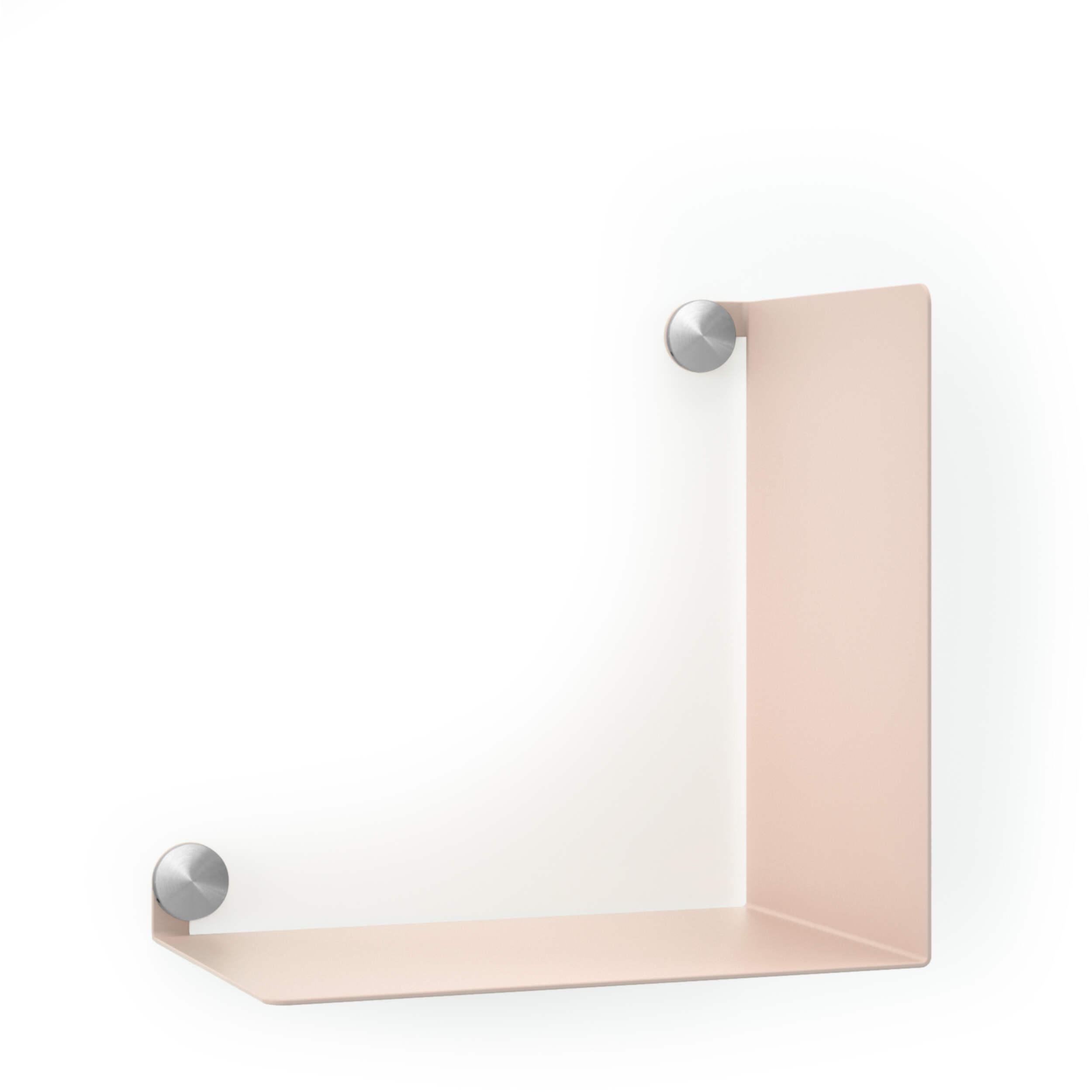 Mensola ELLE ACCIAIO, 30x20xH30 cm, NERO OPACO, viti Button