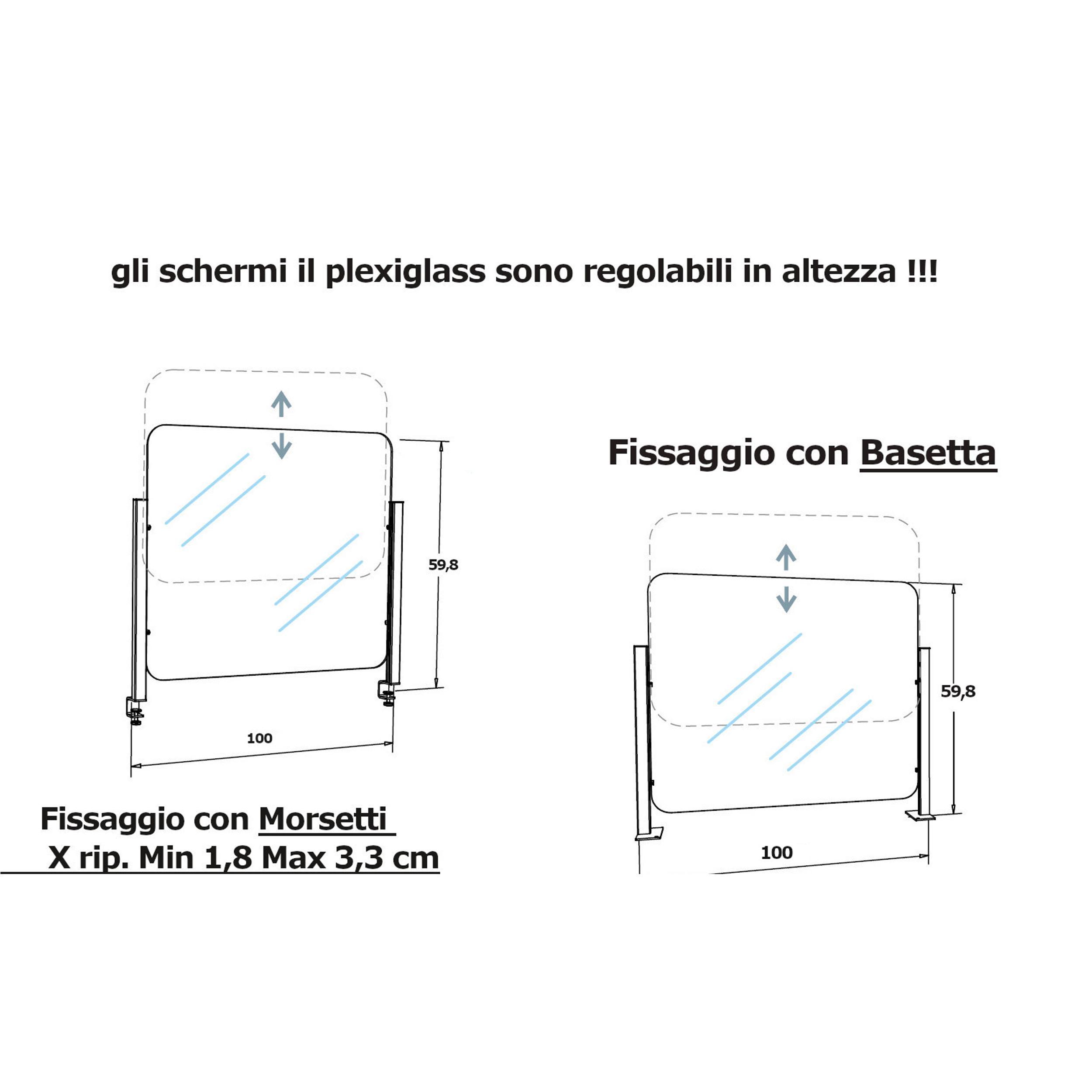 ZYFS Supporto per Morsetto per plexiglass Piano Tavolo Max: Morsetto da Tavolo 10-50mm,Schwarz Set di 8 Pezzi Piedino per Protezione da Saliva Morsetto da Tavolo per Protezione da Saliva